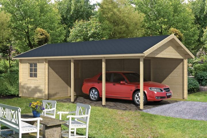 Carport  Schuppen EVER  45mm 470 x 810 cm