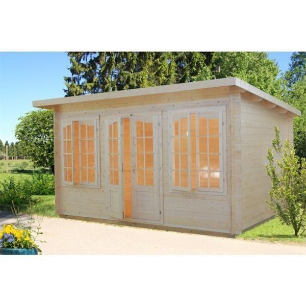 gartenhaus zoey 34mm 420x320cm gartenhaus shop. Black Bedroom Furniture Sets. Home Design Ideas