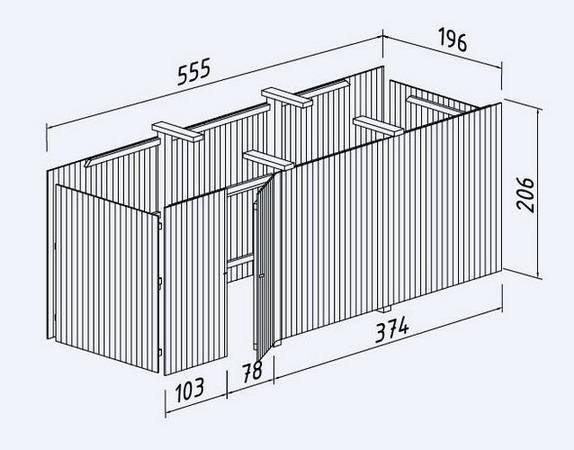 doppelcarport richard 2 mit unterbauschuppen gartenhaus shop. Black Bedroom Furniture Sets. Home Design Ideas