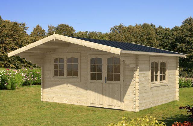 gartenhaus oslo 70mm 470x380cm holzhaus gartenhaus shop. Black Bedroom Furniture Sets. Home Design Ideas